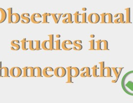 The value of observational studies in homeopathy