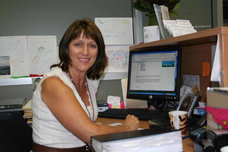Lorraine at desk