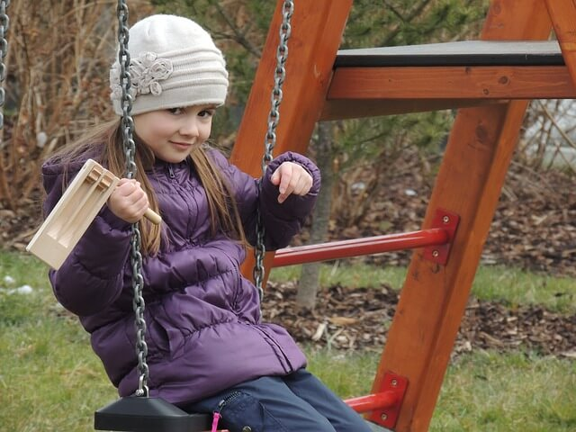 ADHD/ADD girl on a swing