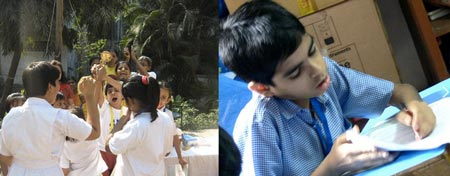 Children at the Spandan Clinic using homeopathy for autism