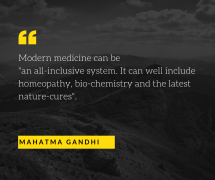 Mahatma Gandhi homeopathy quote and modern medicine