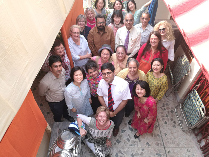 Susan blackshaw with the group who participated in the homeopathy Calcutta Slum Project