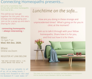 Connecting Homeopaths Meet up online