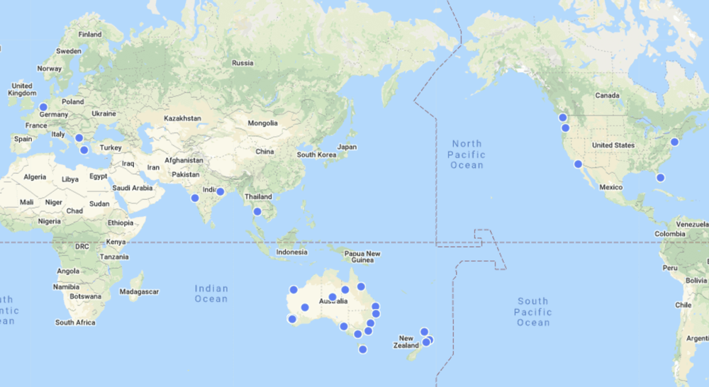 Member world map