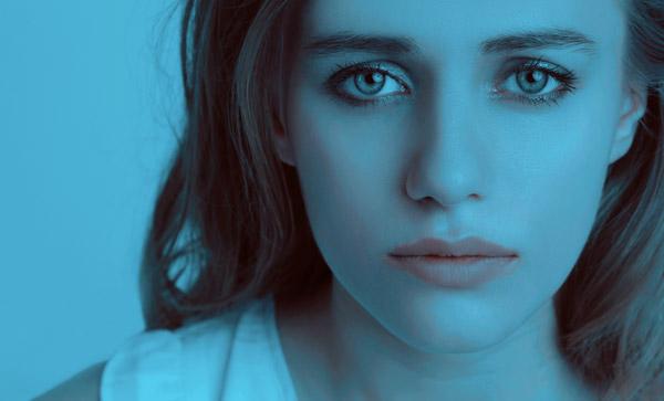 Blue Sad Girl Trauma Despair